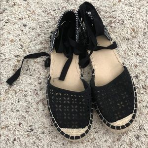 New Look Laser Cut Ankle Tie Espadrille